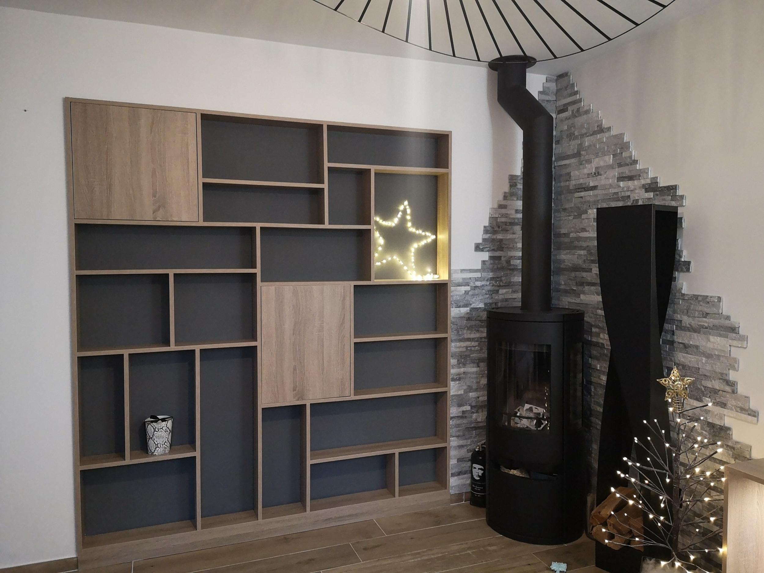 Fabrication et installation meuble pour salon