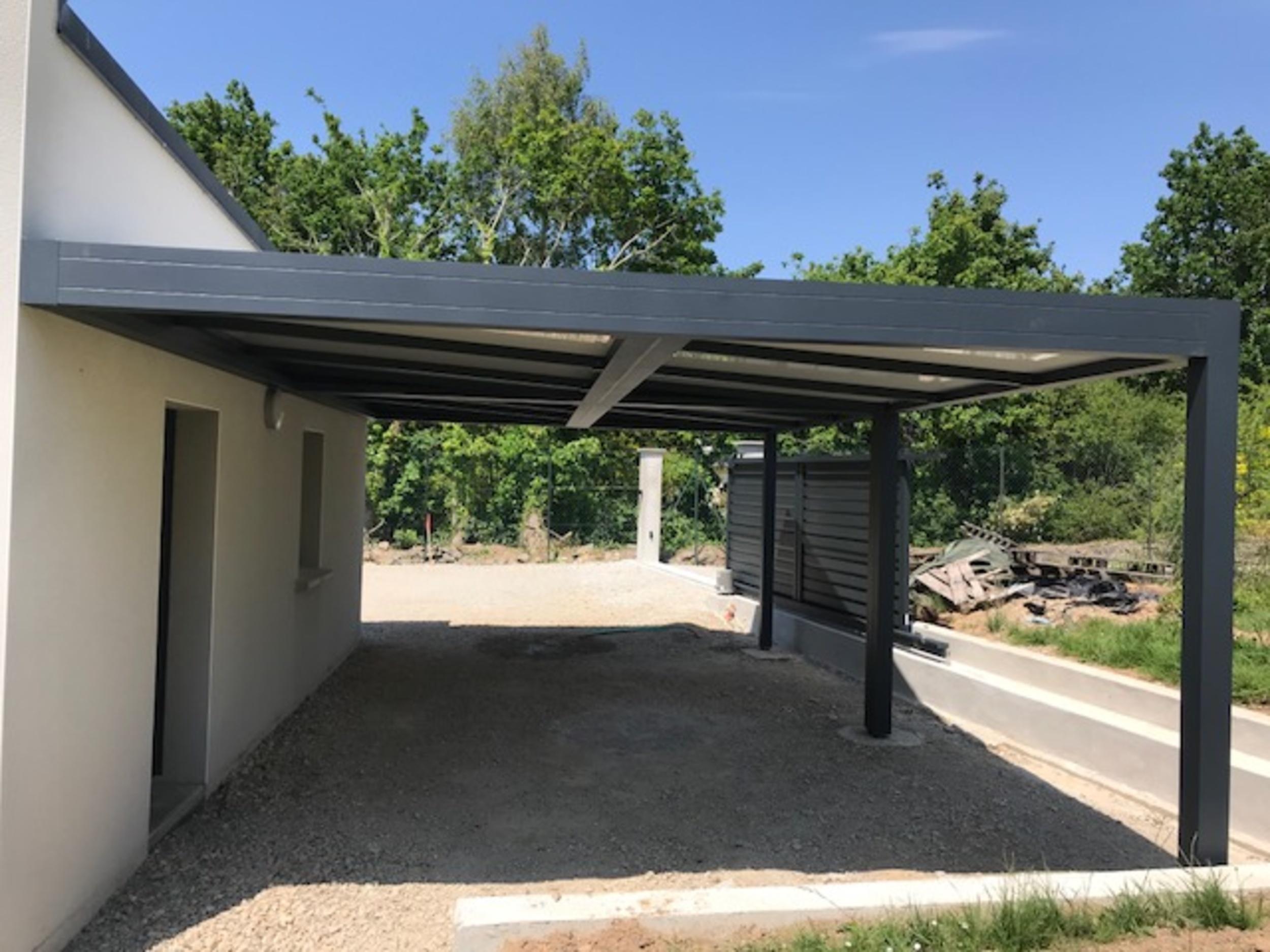 Carport Aluy - Oriasun : autoportant ou mural