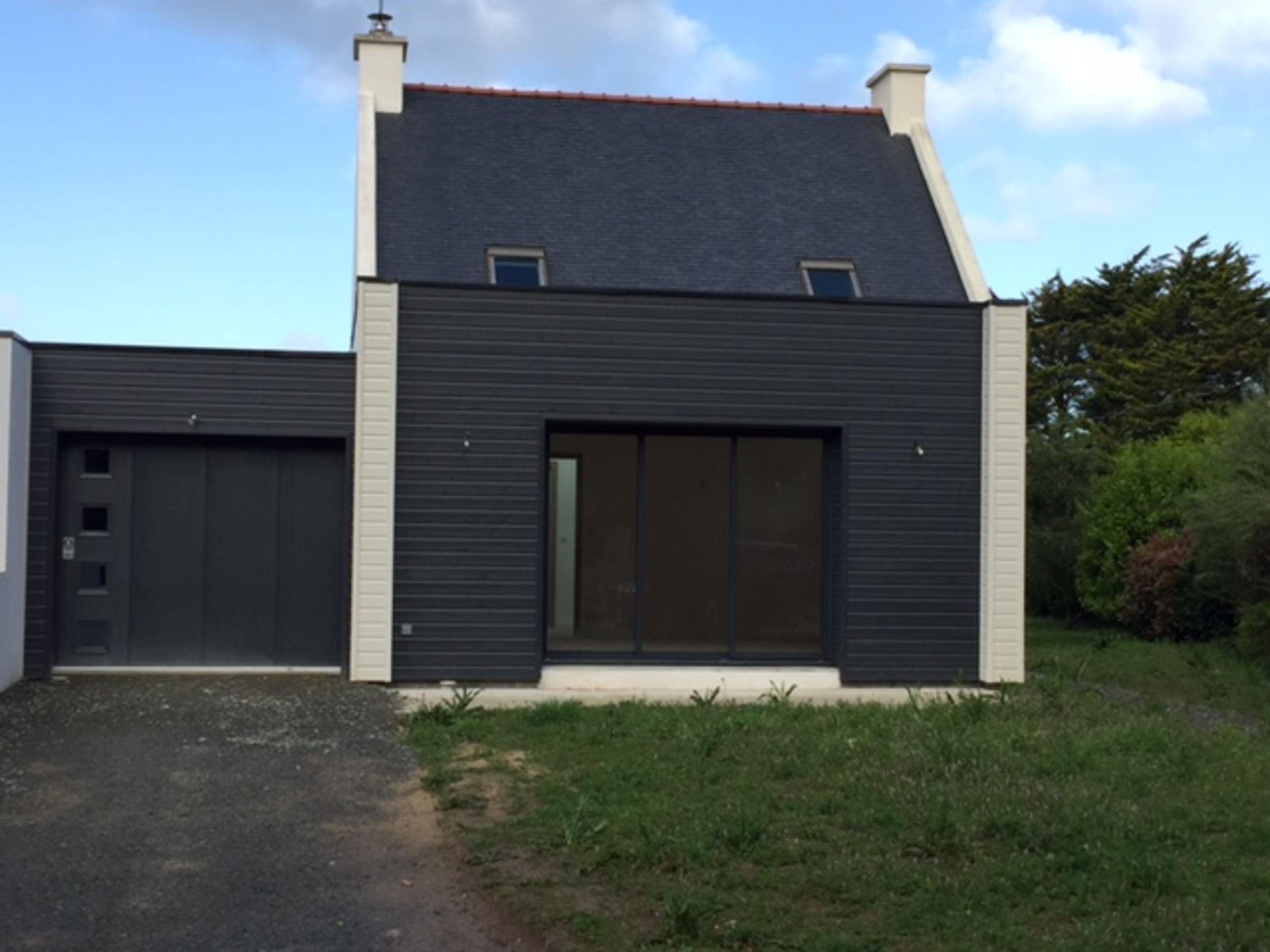 Extension bois et bardage bois garage