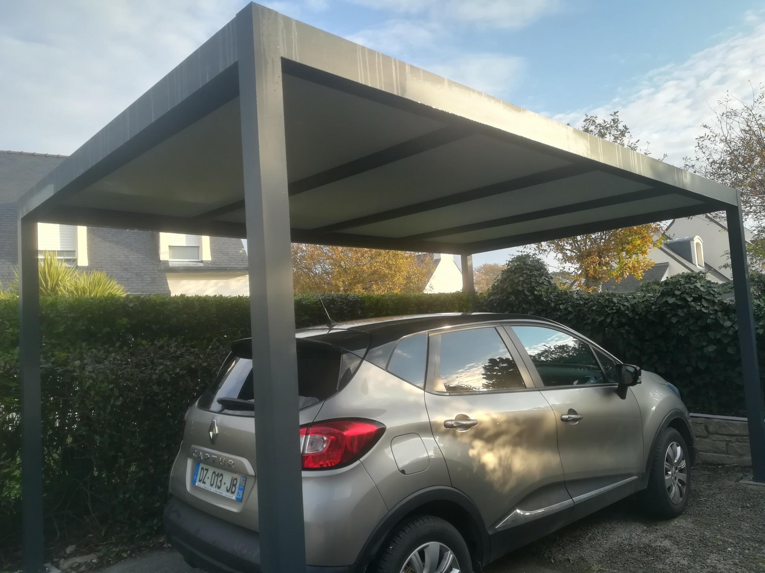 Installation carport alu