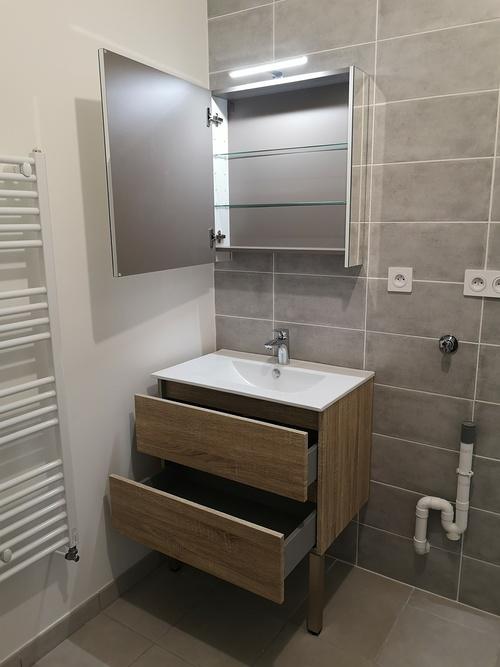 Installation meubles de salle de bain