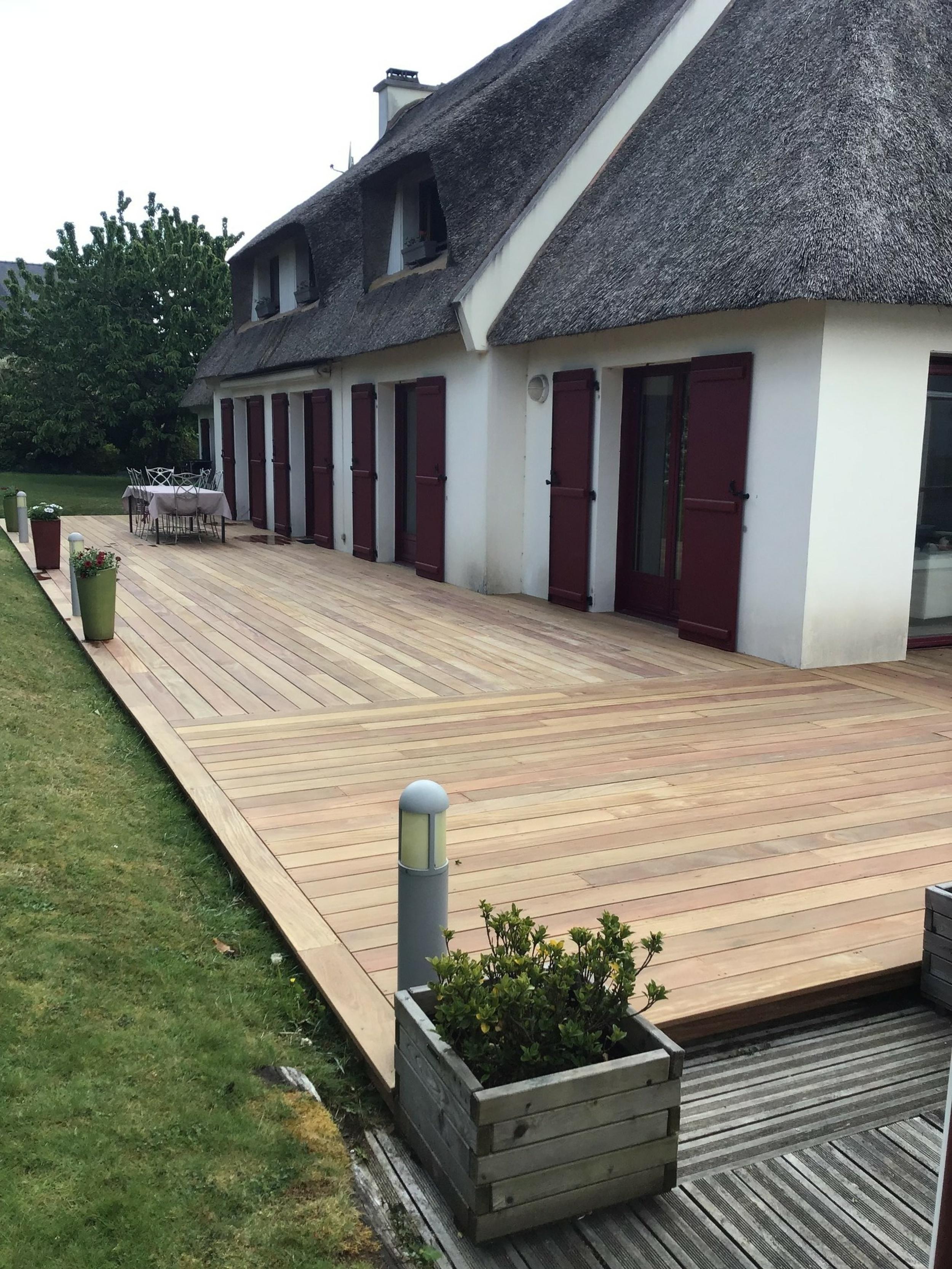 Installation terrasse bois - Forêt Fouesnant