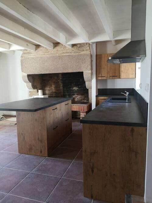 Installation d''une cuisine sur-mesure - Melgven