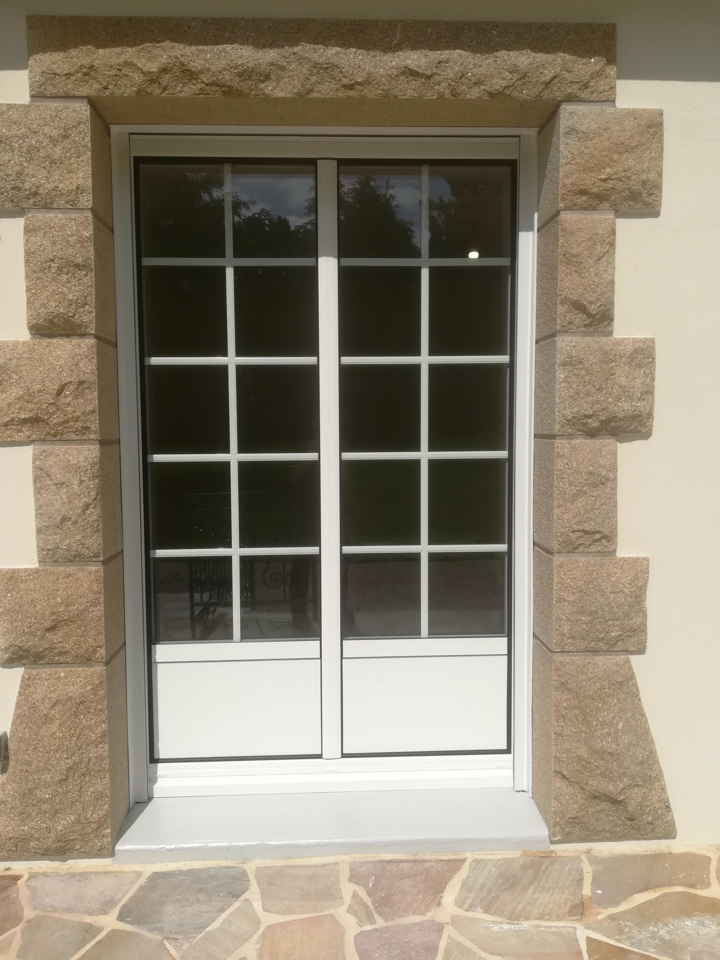 Porte-fenêtres avant / Porte fenêtre alu après