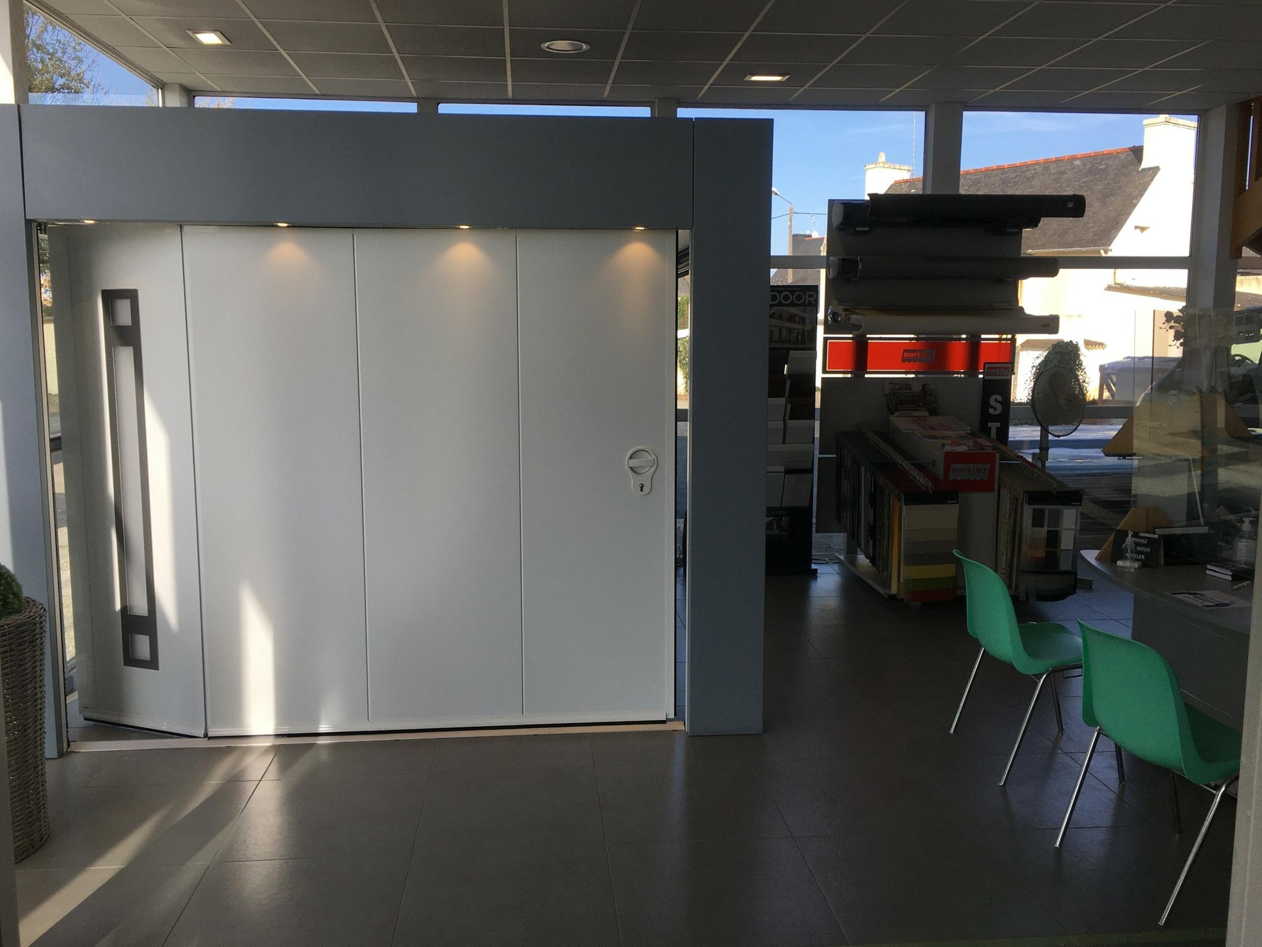 Porte de garage alu - ouverture sectionnelle latérale