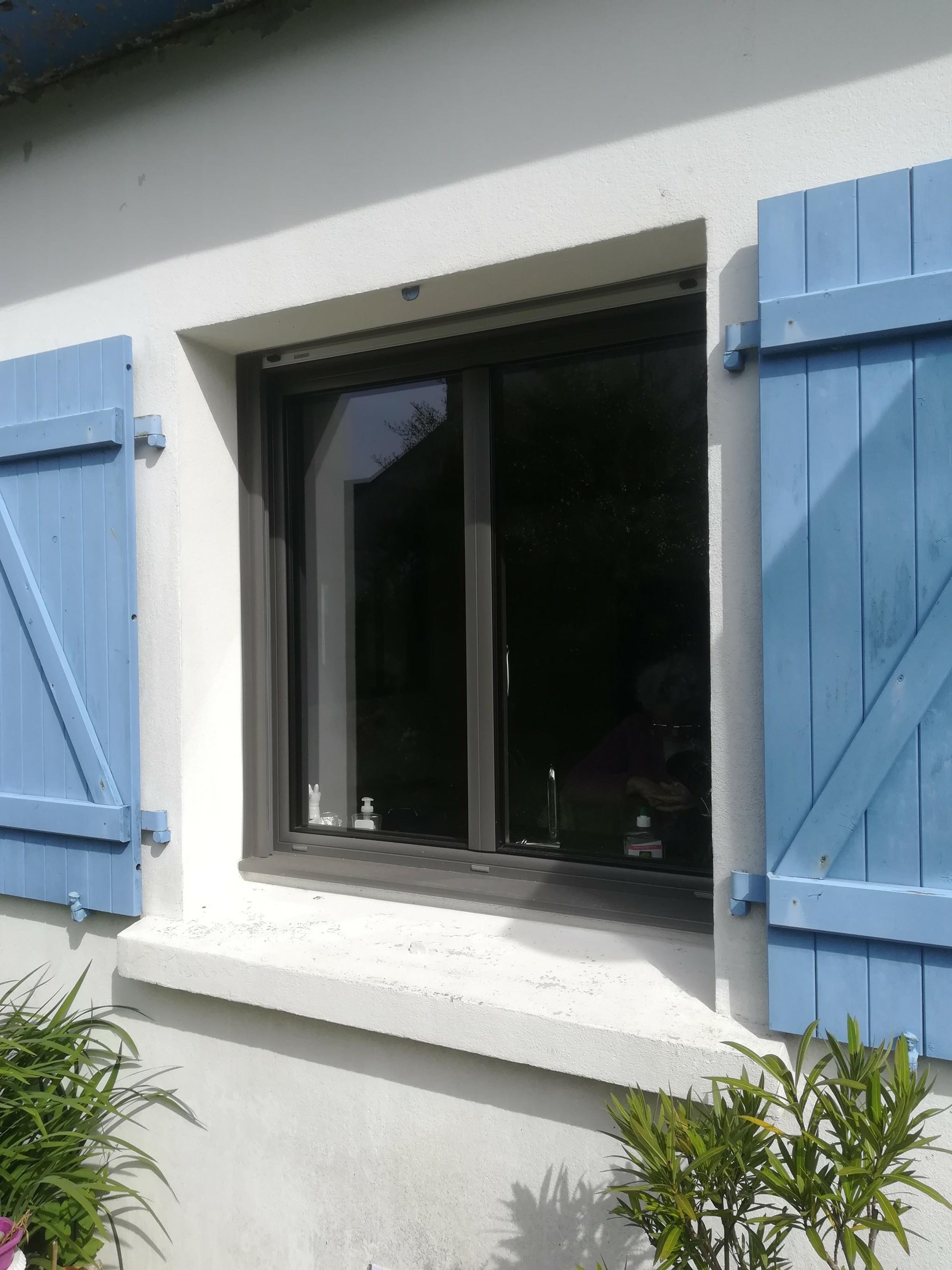 Rénovation fenêtre coulissante alu et fenêtre fixe