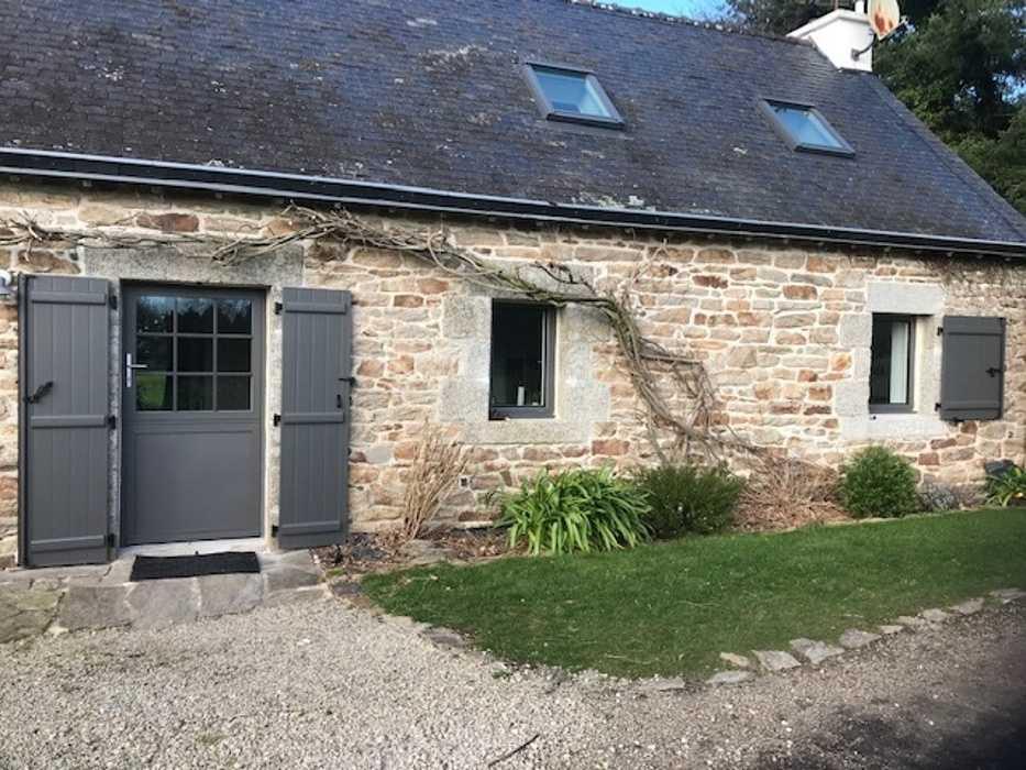 Rénovation porte entrée, fenêtres et volets - bois gris 0