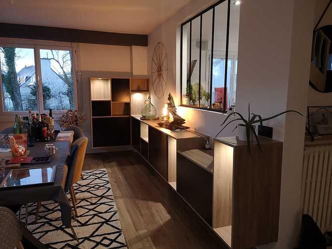 Meuble salle à manger sur-mesure avec éclairages LED 0